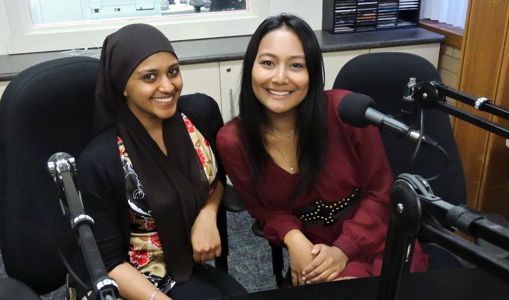 Barakah Raasheed and Judith Mogil  WSU Students Founders of WSU Rotoract